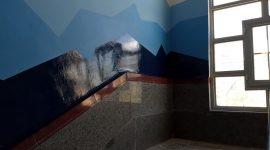 رنگ آمیزی جداره راه پله ورودی مرکز نوجوانان