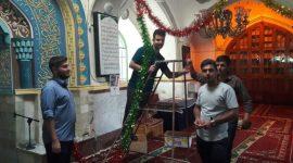 آذین بندی شبستان مسجد شریف الملک برای میلاد حضرت امام رضا سلام الله علیه