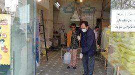 ضدعفونی معابر و واحدهای صنفی پرتردد محله توسط بسیجیان پایگاه مقاومت شهید فهمیده